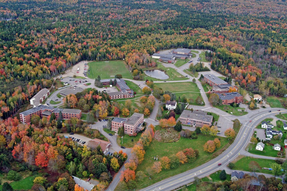 An aerial view of the University of Maine