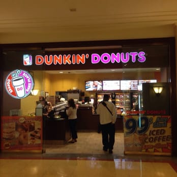 Customers being served at the Dunkin Donuts