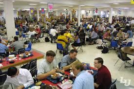 Students enjoying their meals at the Food Court at Reber-Thomas