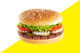 A colored picture of a burger
