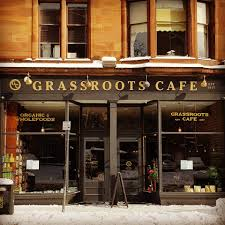 Front view of the Grassroots cafe