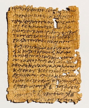the old greek scroll