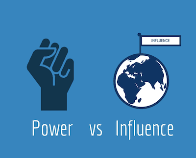 Learn the difference between power and influence.