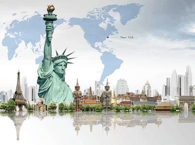 Famous landmarks of the world.