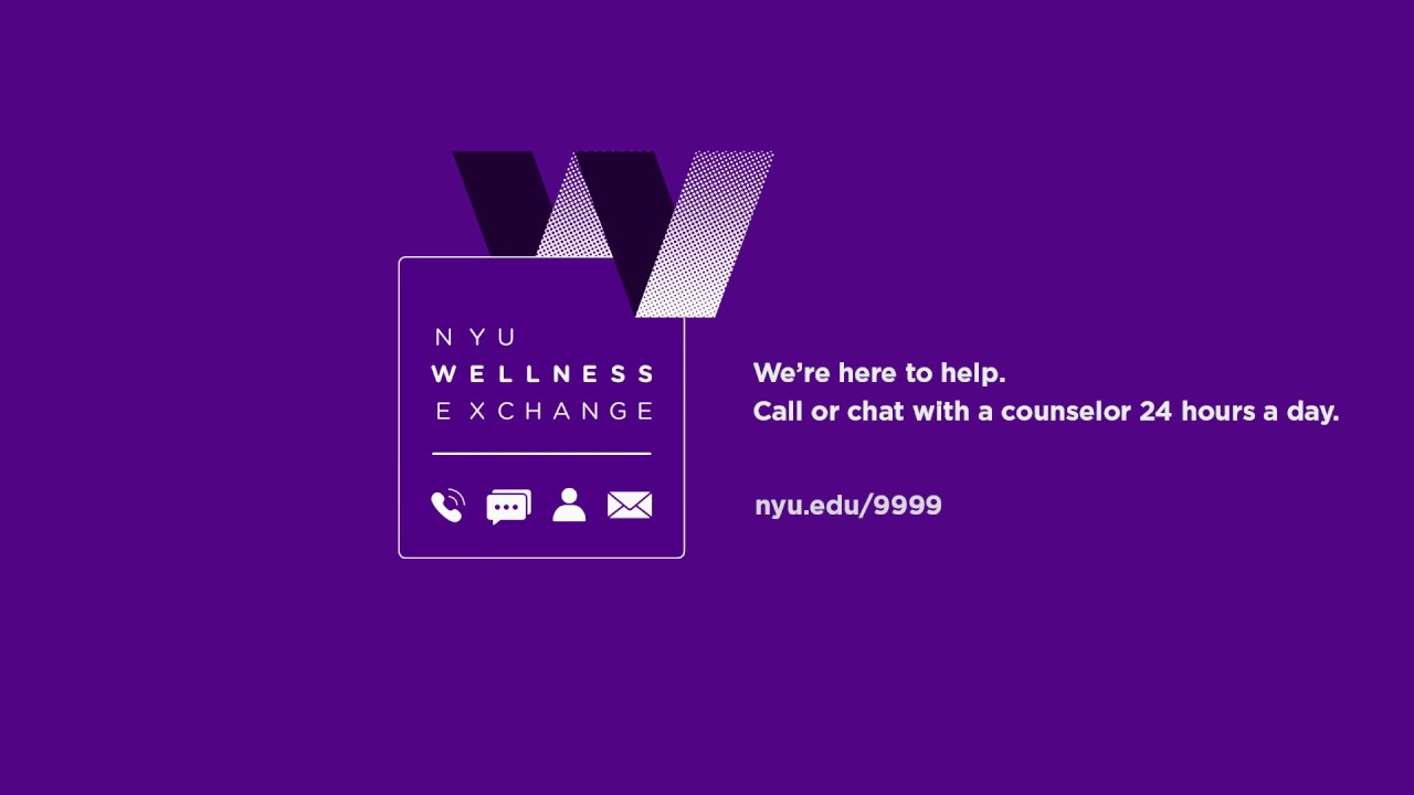 Information about the NYU Wellness Exchange.