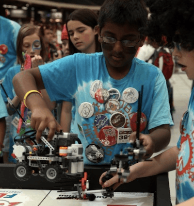 CLU hosting the student robotic tournament.