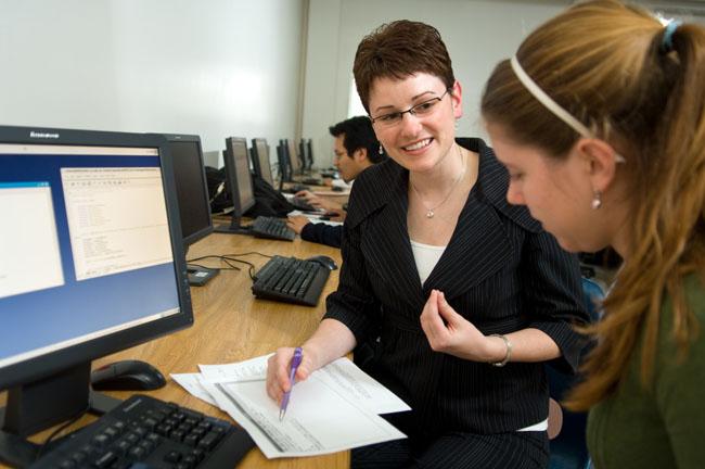 A tutor teaching a student