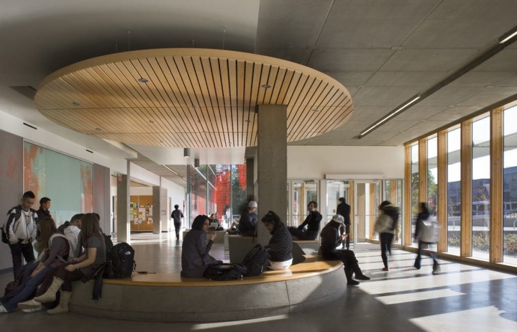 Simon Fraser University interior lobby
