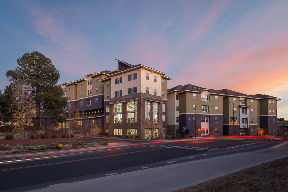The sunset at Northern Arizona University