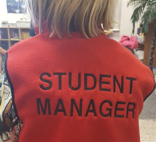 This image shows the label for a Student Manager.