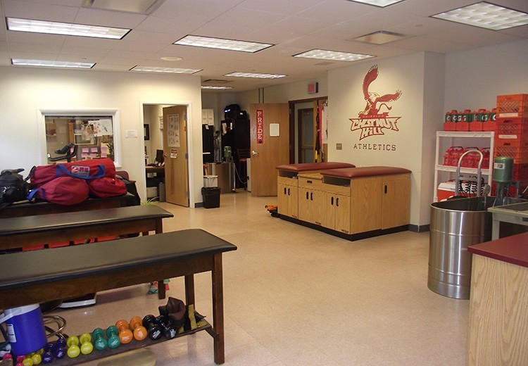 The student's athletic training room