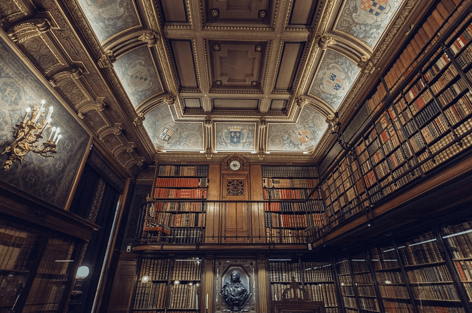 a photo of a library