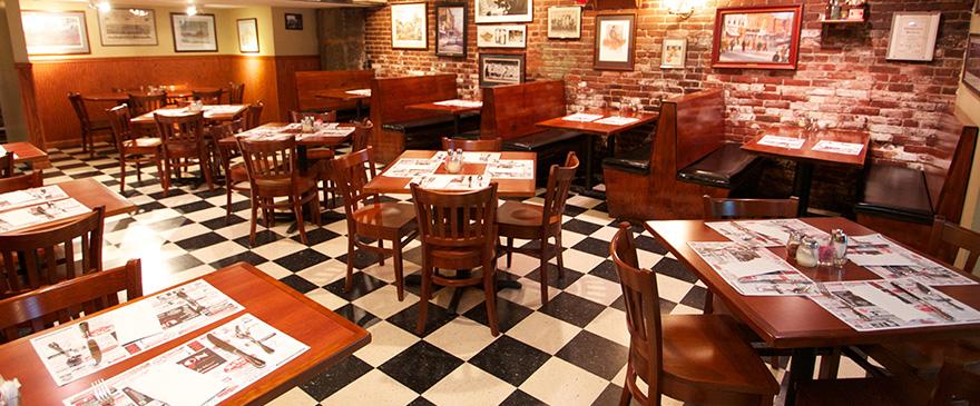 Inside of the Italian restaurant