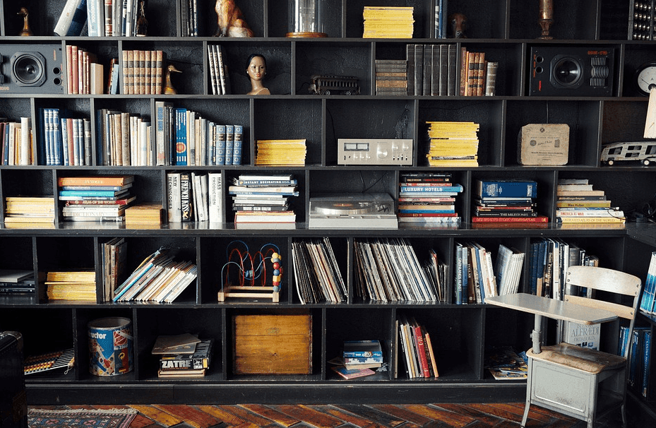books at the shelf