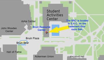 map of Bruin Resource Center (BRC)