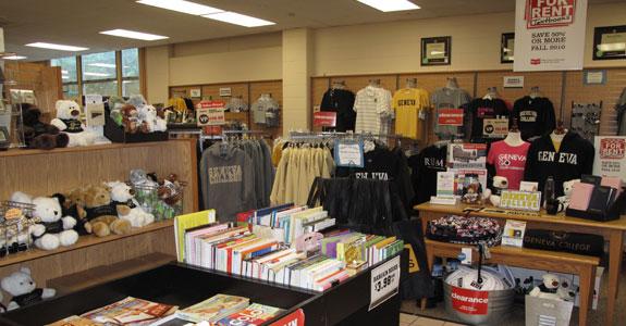 A campus book store