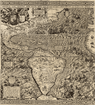 A 1562 map of the Americas, which applied the name California for the first time.