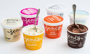 Some ice cream flavors from the cafe