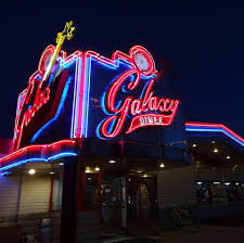 the outside of the galaxy diner