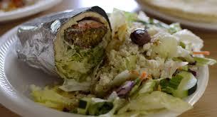 Greek food at restaurant