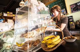 Person making the food at Hive