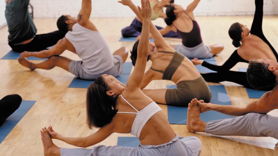 Aerobics session for stress management.
