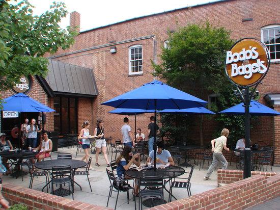 Bodo's Bagel store front in Charlottesville