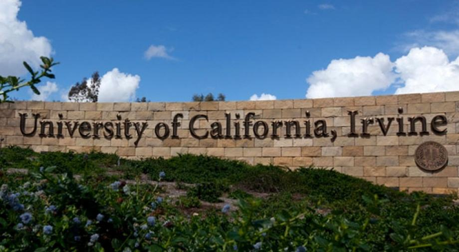 UC Irvine sign in front of campus
