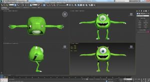 designing and development of characters, props