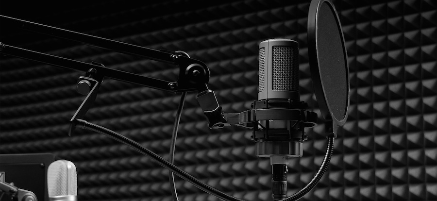 Image showing mic of the recording studio