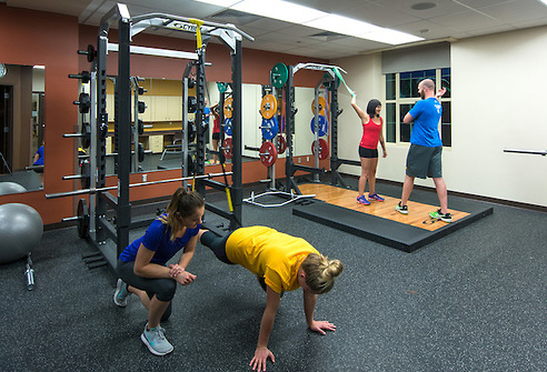 Students active at the recreational center