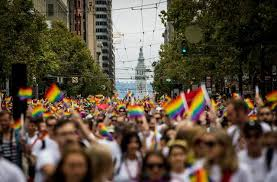 a gay pride rally