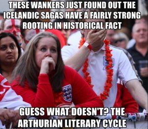 meme about arthurian literature