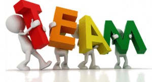 Pictorial representation of social work team