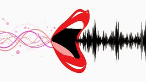 Waves of thoughts being processed to make the mouth work and the lips open to let out waves of sound and speech