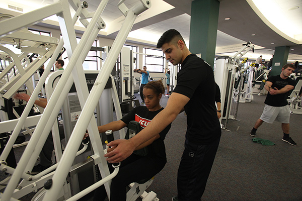 student fitness at Baylor University