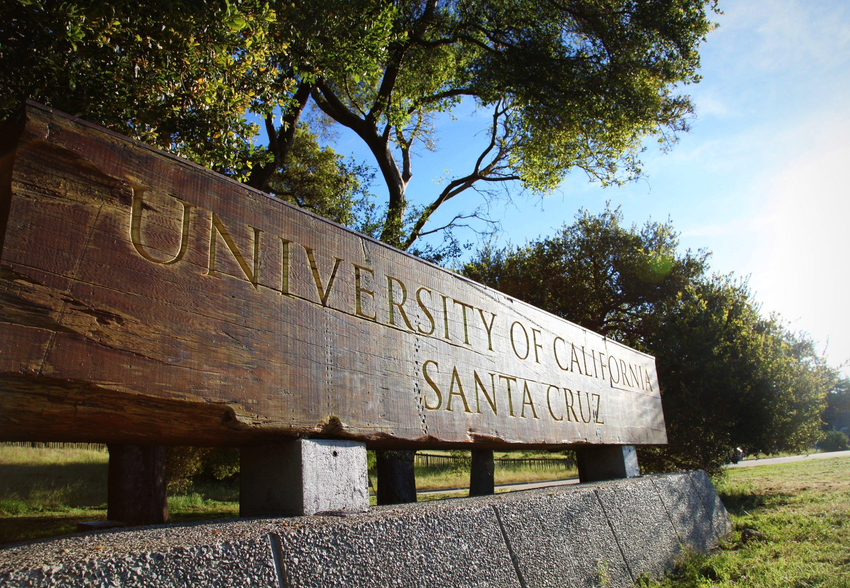 Entrance sign at UC Santa Cruz
