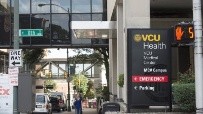 VCU Health System? sign post