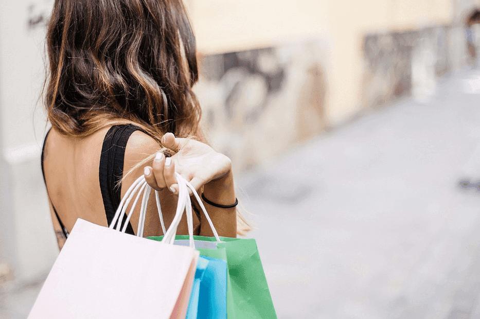 woman buying