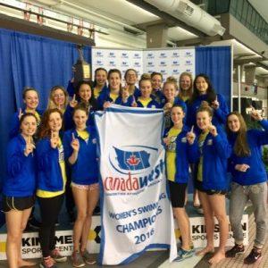 UBC's women swimming team