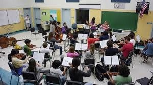 students enjoying the music class