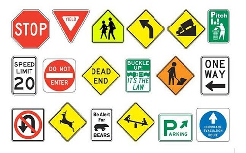 the signs about the traffic rules