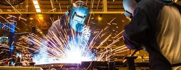 the men are getting practical experience through welding work