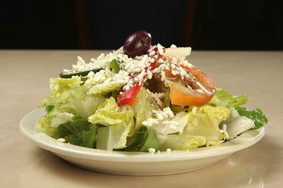 greek-salad serving in plate