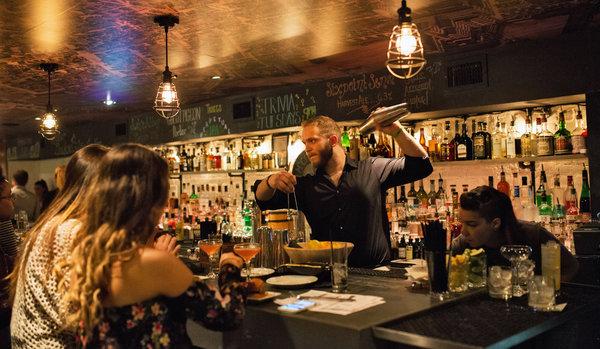 A barman at Elm City Social