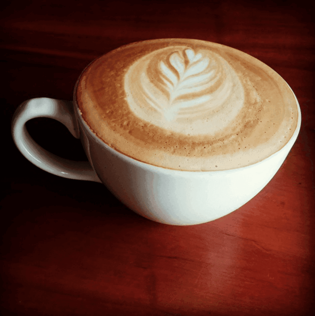 A cup of caffe latte
