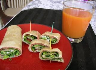 veggie-wraps-and-juice
