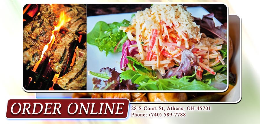 Ginger Asian Kitchen advertisement for ordering online