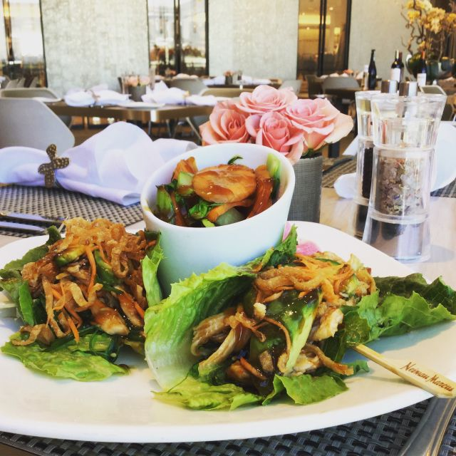 lettuce wraps served on a plate
