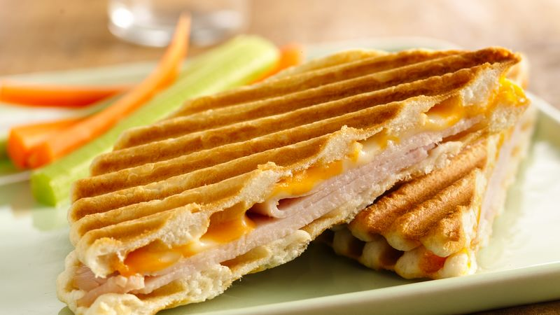 Panini serving in plate